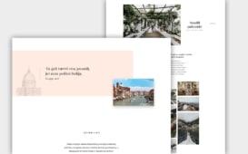 Website design and development created for www.taikastrom.com client Vestuvės Italijoje, a wedding planner.