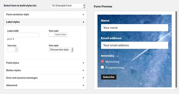 Mailchimp 4 WordPress screenshot